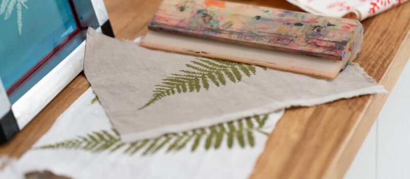 Printmaking with nature. Workshops and Products Gallery